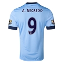 Manchester City 14/15 A. NEGREDO Authentic Home Soccer Jersey