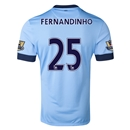 Manchester City 14/15 FERNANDINHO Authentic Home Soccer Jersey