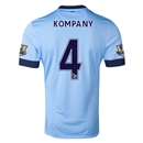 Manchester City 14/15 KOMPANY Authentic Home Soccer Jersey