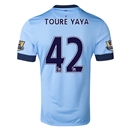 Manchester City 14/15 TOURE YAYA Authentic Home Soccer Jersey