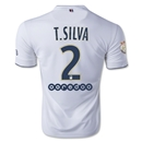 Paris Saint-Germain 14/15 T. SILVA Away Soccer Jersey