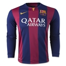 Barcelona 14/15 LS Home Soccer Jersey