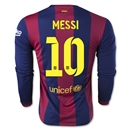 Barcelona 14/15 MESSI LS Home Soccer Jersey
