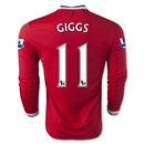 Manchester United 14/15 GIGGS LS Home Soccer Jersey