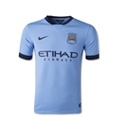Manchester City 14/15 Youth Home Soccer Jersey