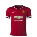 Manchester United 14/15 Youth Home Soccer Jersey