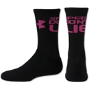 Under Armour Women's Speed Don't Lie Crew Sock (Black/Pink)