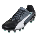 Puma evoSpeed 1.3 Leather FG (Black/White/Turbulence)