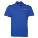 Russia Flag Soccer Polo (Royal)