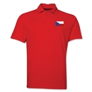 Czech Republic Flag Soccer Polo (Red)