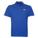 Sweden Flag Soccer Polo (Royal)
