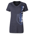 San Jose Earthquakes Women's Split Decision V-Neck T-Shirt