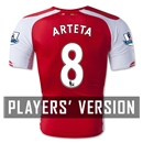 Arsenal 14/15 ARTETA Authentic Home Soccer Jersey