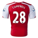 Arsenal 14/15 CAMPBELL Authentic Home Soccer Jersey