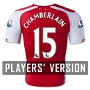 Arsenal 14/15 CHAMBERLAIN Authentic Home Soccer Jersey