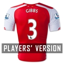 Arsenal 14/15 GIBBS Authentic Home Soccer Jersey