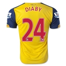 Arsenal 14/15 DIABY Away Soccer Jersey