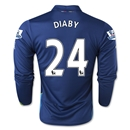 Arsenal 14/15 LS DIABY Cup Soccer Jersey