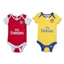 Arsenal Baby 2 Pack Onesies