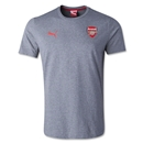Arsenal Badge Fan T-Shirt (Gray)
