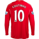 Liverpool 14/15 COUTINHO LS Home Soccer Jersey