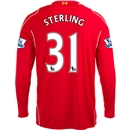 Liverpool 14/15 STERLING LS Home Soccer Jersey