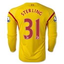 Liverpool 14/15 STERLING LS Away Soccer Jersey