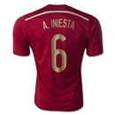 Spain 2014 A. INIESTA Home Soccer Jersey