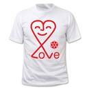 Love Heart Soccer T-Shirt (White)
