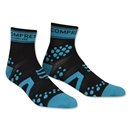Compressport Racing Sock V2 Run High Cut (Black/Sky)