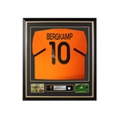 Dennis Bergkamp Signed and Framed Netherlands World Cup Jersey