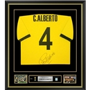 Carlos Alberto Signed and Framed Brazil World Cup Jersey