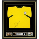 Rivelino Signed and Framed Brazil World Cup Jersey