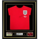 Bobby Charlton Signed and Framed England Jersey