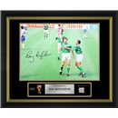 Ray Houghton Signed Republic of Ireland Photo