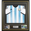 Leo Messi Signed and Framed Argentina Jersey