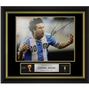 Leo Messi Signed Argentina Photo