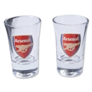 Arsenal Wordmark 2 Pack Shot Glass