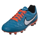 Nike Tiempo Genio Leather FG Junior (Neo Turquoise/White)
