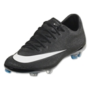Nike Mercurial Vapor X CR FG Junior (Black/White/Hyper Turquoise)