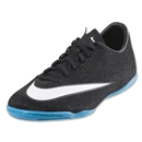 Nike Mercruial Victory V CR IC Junior (Black/White/Hyper Turquoise)