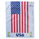 USA World Cup 2014 Vertical Flag