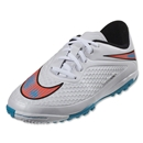 Nike Junior Hypervenom Phelon TF (White/Blue Lagoon)