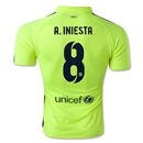 Barcelona 14/15 A. INIESTA Authentic Third Soccer Jersey