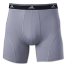 adidas Sport Performance ClimaLite 2 Pack Boxer Brief (Sv/Bk)