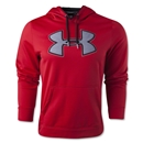 Under Armour Fleece Storm Outline Big Logo Hoody (Red)
