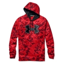Under Armour Fleece Storm Printed Outline Big Logo Hoody (Red)