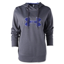 Under Armour Big Logo Applique Hoody (Blk/Pur)