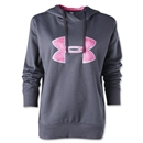 Under Armour Big Logo Applique Hoody- Power in Pink (Black/Pink)