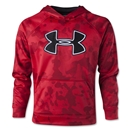 Under Armour Youth Armour Fleece Storm Big Logo Novelty Hoody (Red)